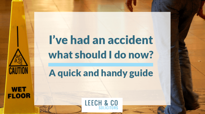 I've had an accident – what should I do now?  A quick and handy guide