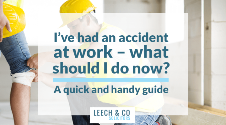 I've had an accident at work – what should I do now?  A quick and handy guide